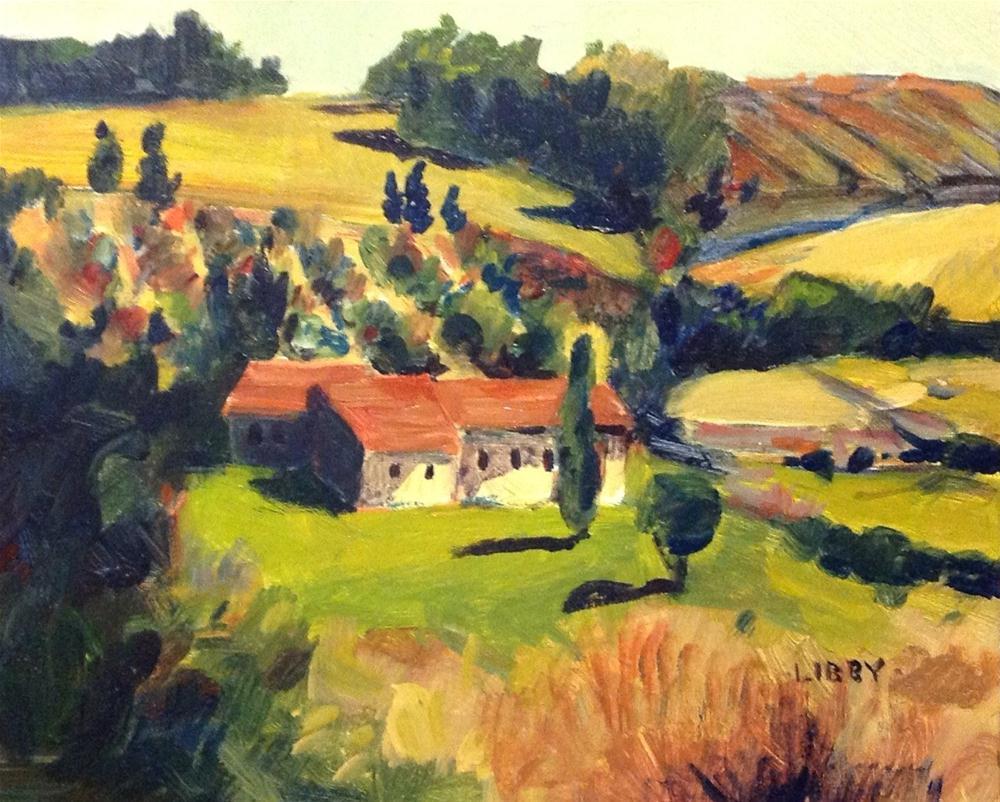 """Farmhouse"" original fine art by Libby Anderson"