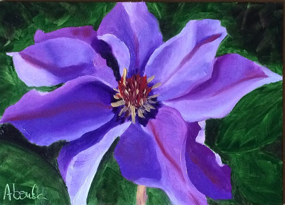 """Purple Clematis"" original fine art by Sandy Abouda"