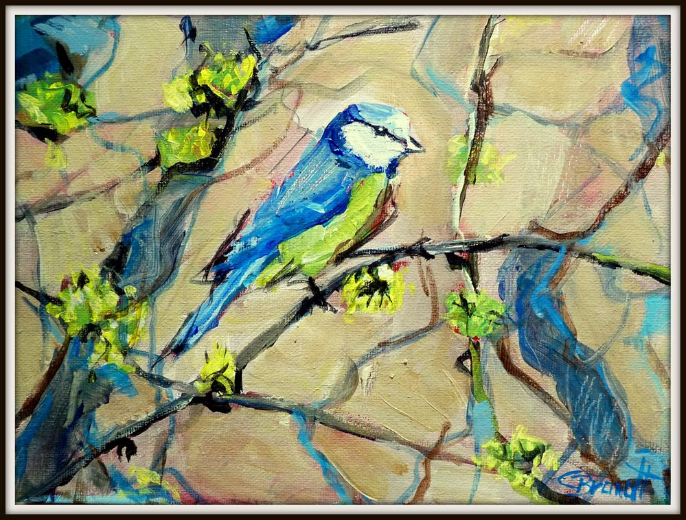 """tit in blue"" original fine art by Claudia Brandt"