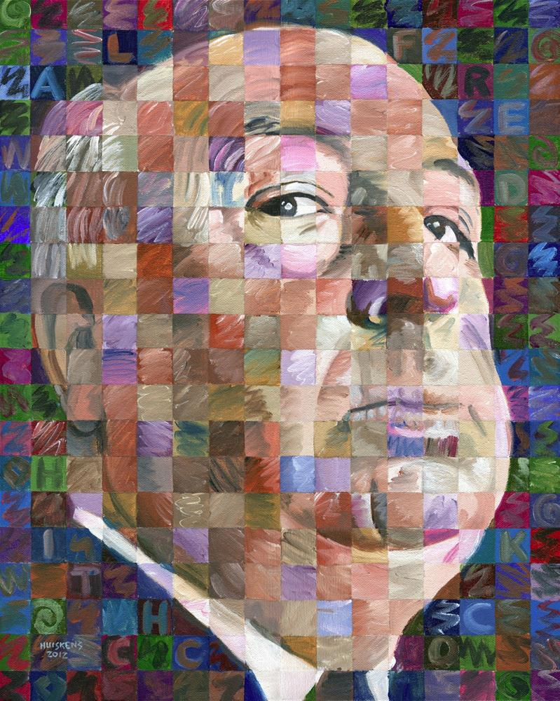 """Alfred Hitchcock"" original fine art by Randal Huiskens"