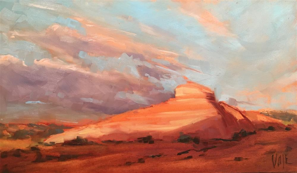 """#337 Desert Sky"" original fine art by Patty Voje"