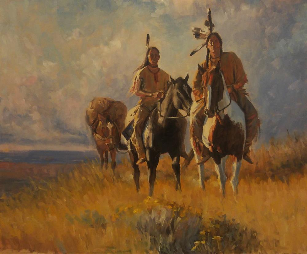 """The Pack Line"" original fine art by Rick Kennington"