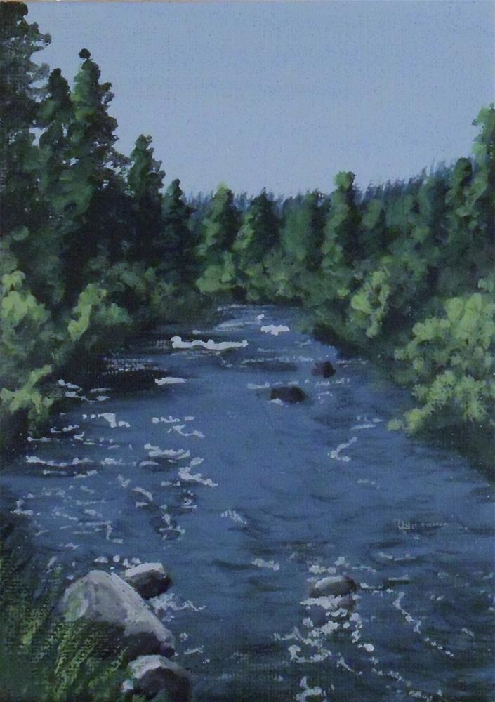 """Powder River"" original fine art by Amy VanGaasbeck"