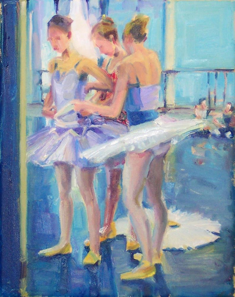 """Last Preparations,figures,oil on canvas,10x8,$795"" original fine art by Joy Olney"