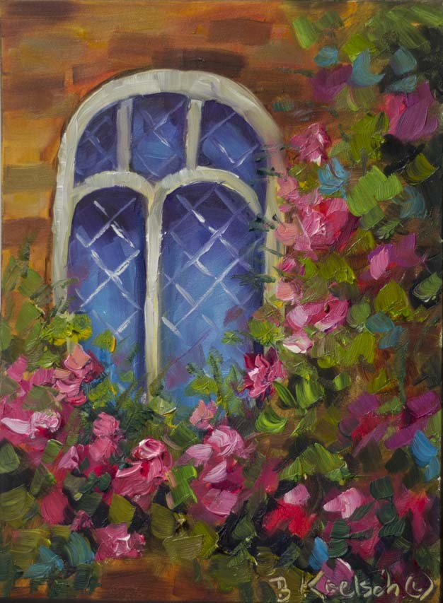 """Cottage Window"" original fine art by Bobbie Koelsch"