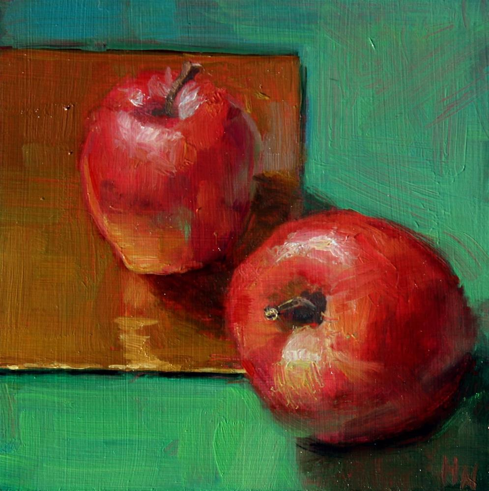 """Complementary Apples"" original fine art by Heather Nibert"