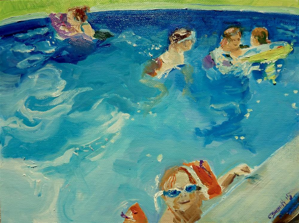 """in the pool"" original fine art by Claudia Brandt"