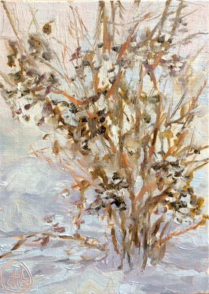 """snow before breakfast"" original fine art by Dottie  T  Leatherwood"