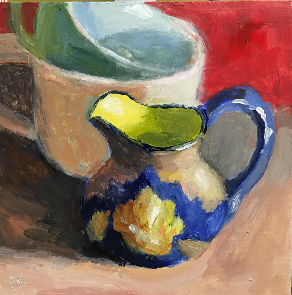 """174 Bright Creamer"" original fine art by Fred Bell"