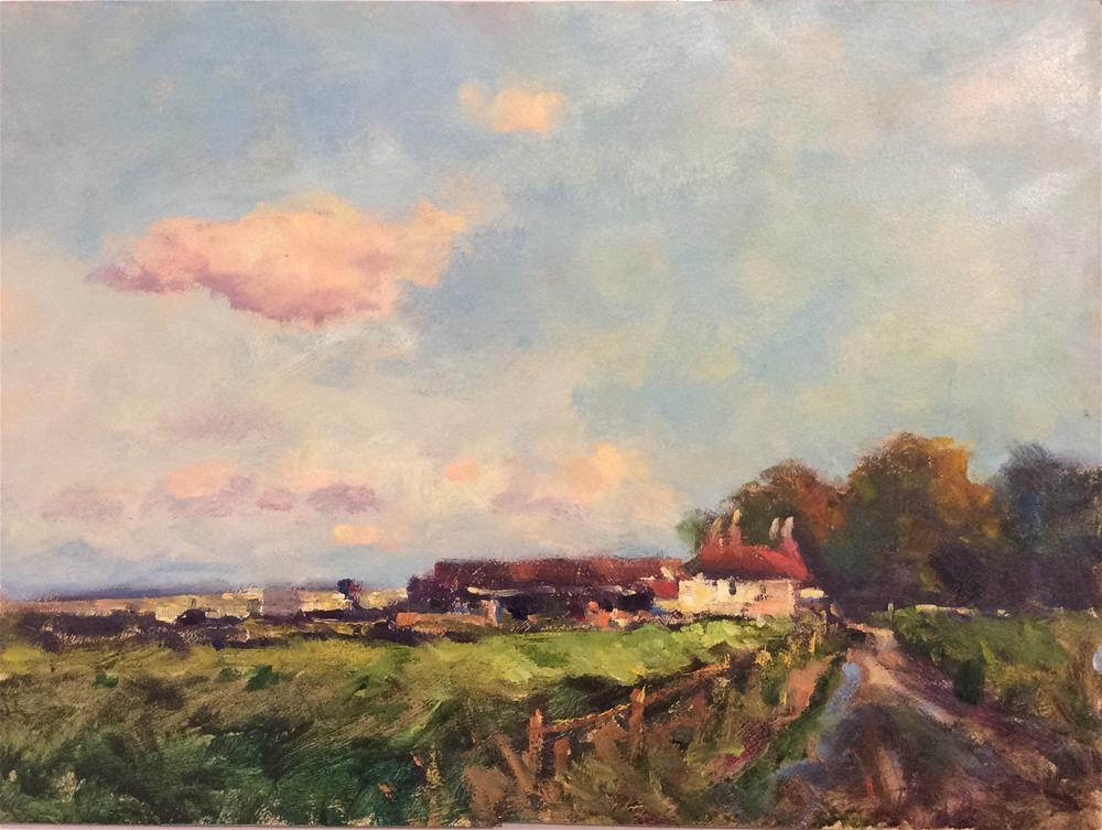 """Sussex Oast"" original fine art by John Shave"