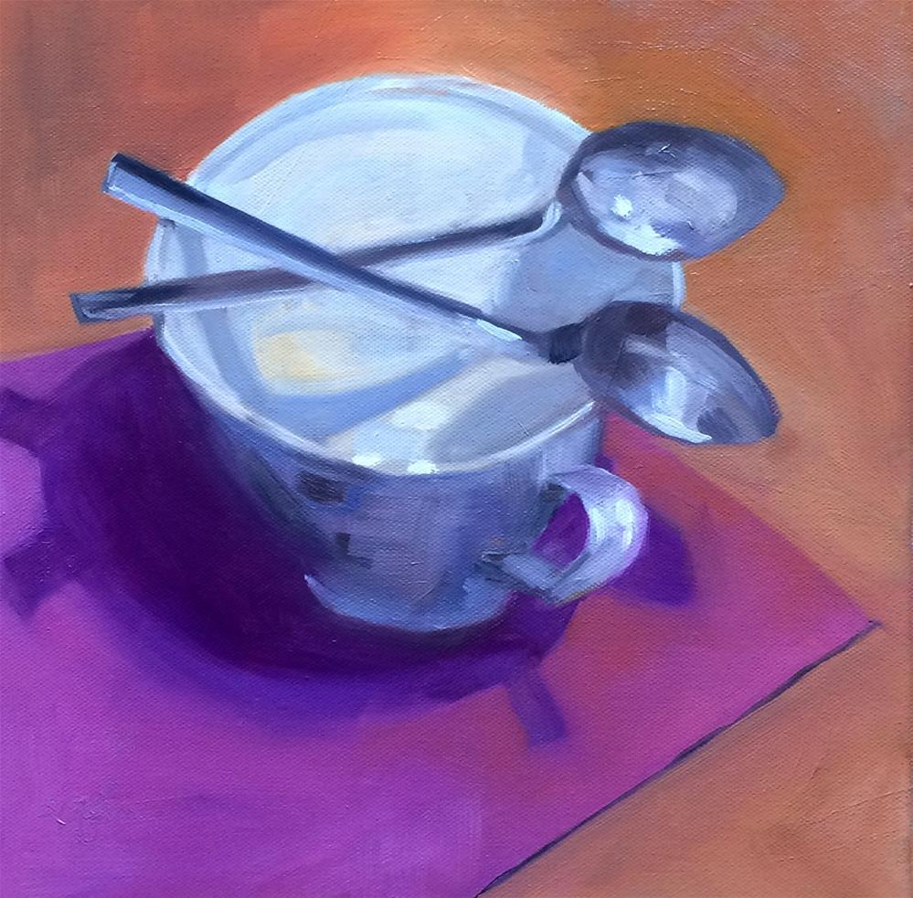 """S - is for X-ing Spoons"" original fine art by Suzanne Gysin"