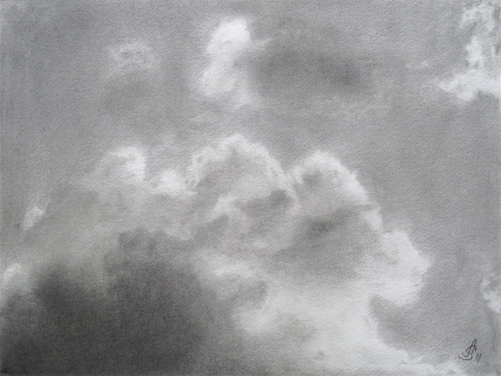 """Clouds II"" original fine art by Anna Starkova"