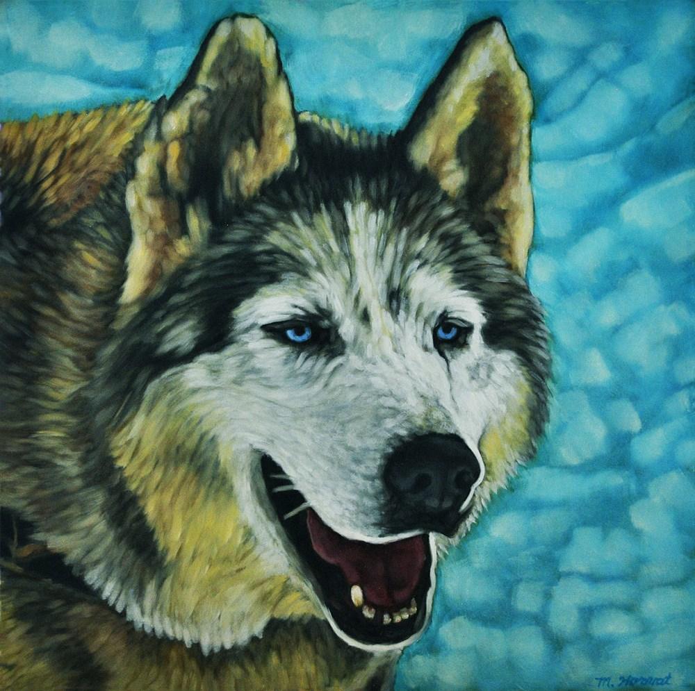"""""""Snow Dog"""" original fine art by Margaret Horvat"""