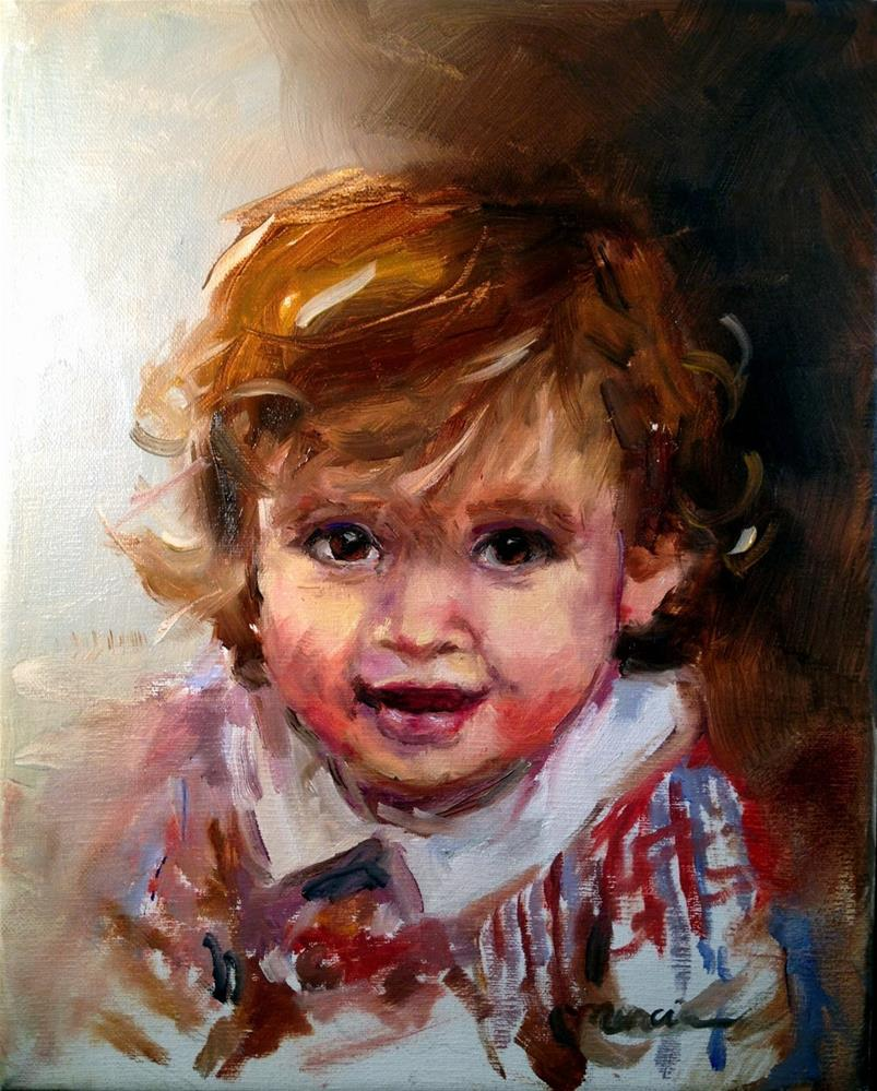"""Paxton"" original fine art by Marcia Hodges"