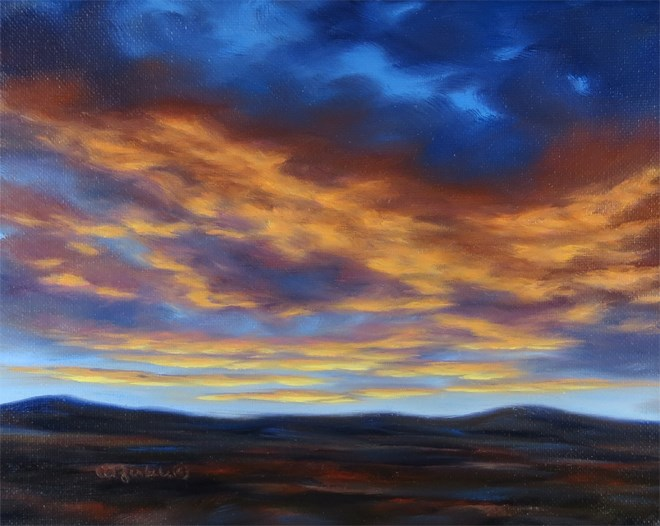 """Glow Fire"" original fine art by Carol Zirkle"