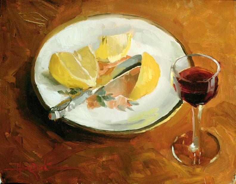 """""""Port & Lemon"""" original fine art by Scott Harding"""