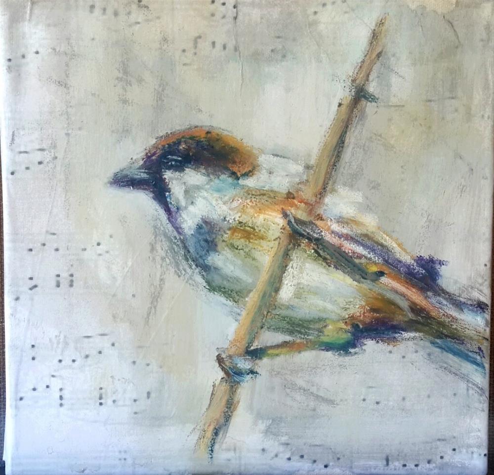 """""""Birdsong 2"""" original fine art by Rentia Coetzee"""