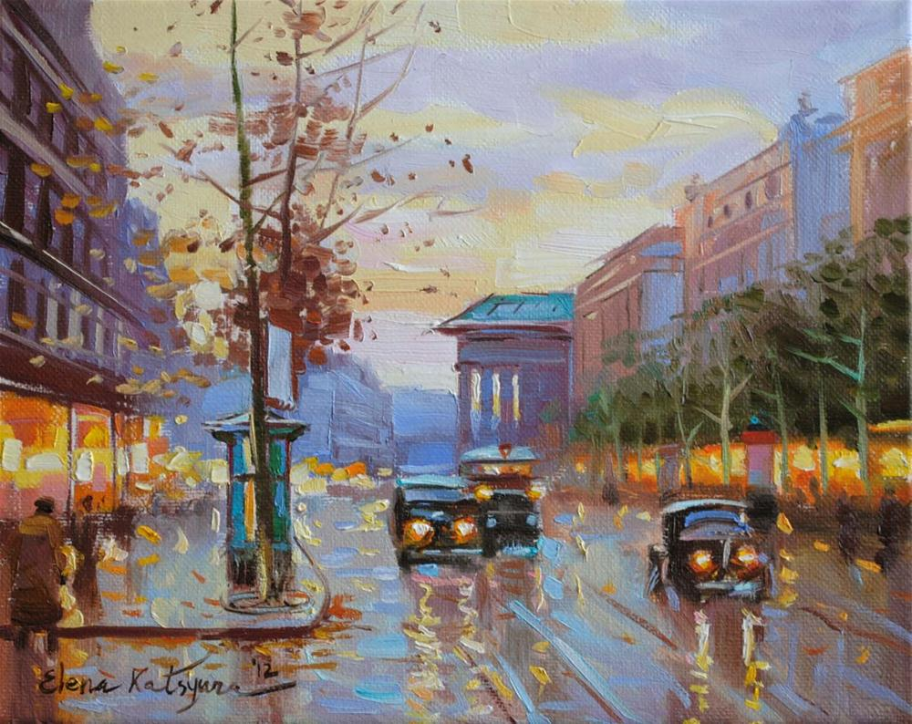 """Paris Street"" original fine art by Elena Katsyura"