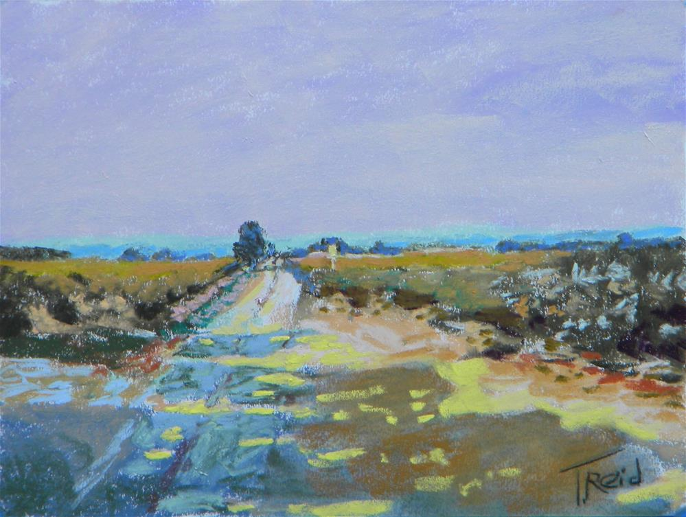 """Down the Road a Bit #2"" original fine art by Toby Reid"