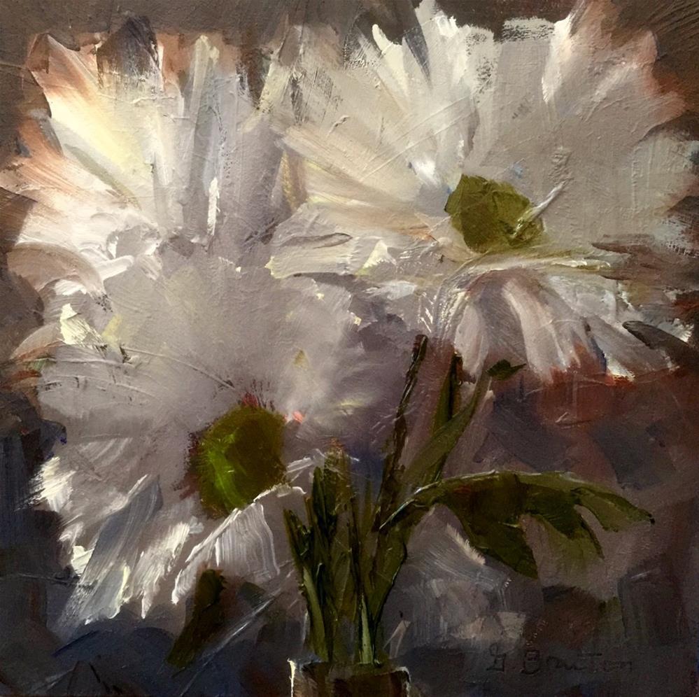 """Daisies, Dim Light"" original fine art by Gary Bruton"