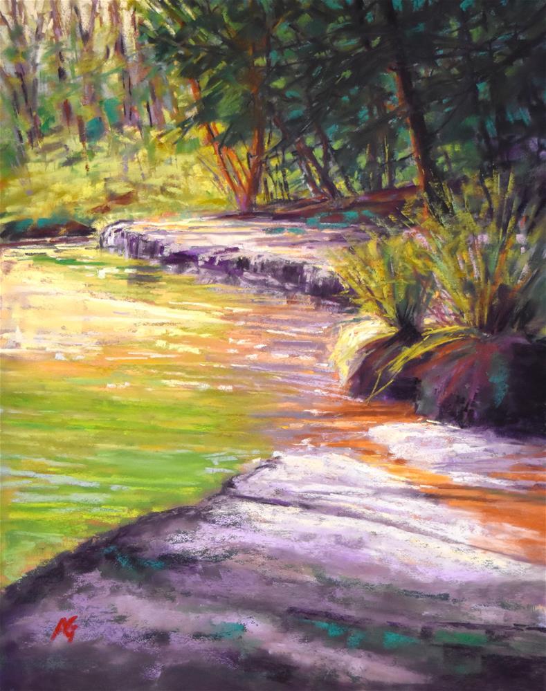 """Green over green"" original fine art by Alejandra Gos"