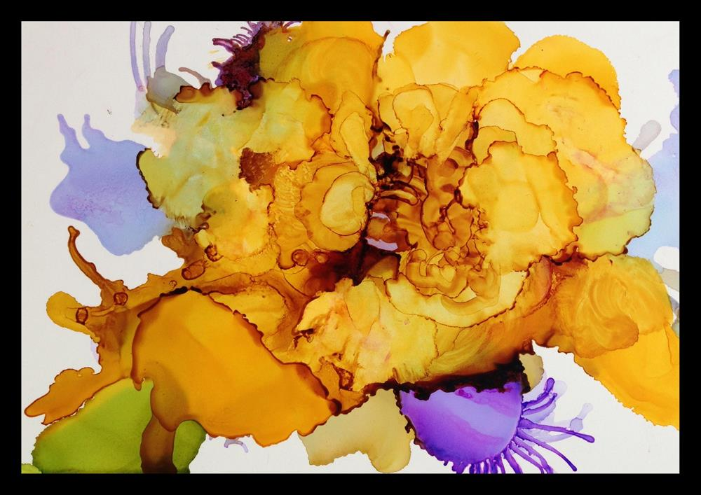 """Yellow Rose"" original fine art by Kelly Alge"