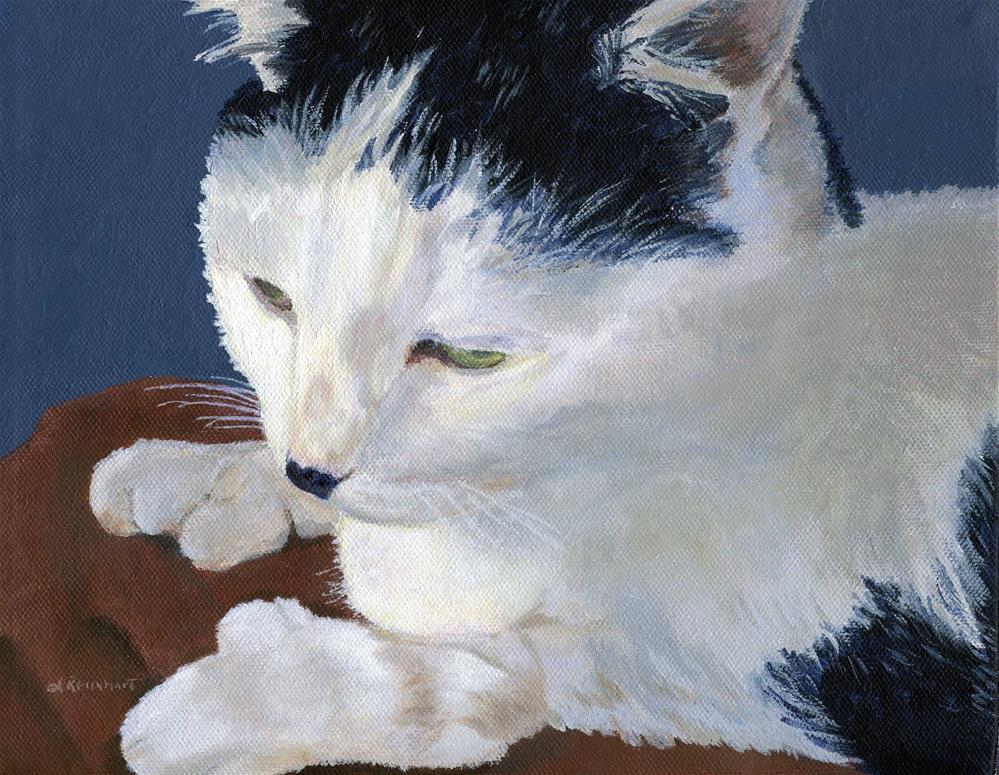 """Iggy"" original fine art by Lynne Reichhart"