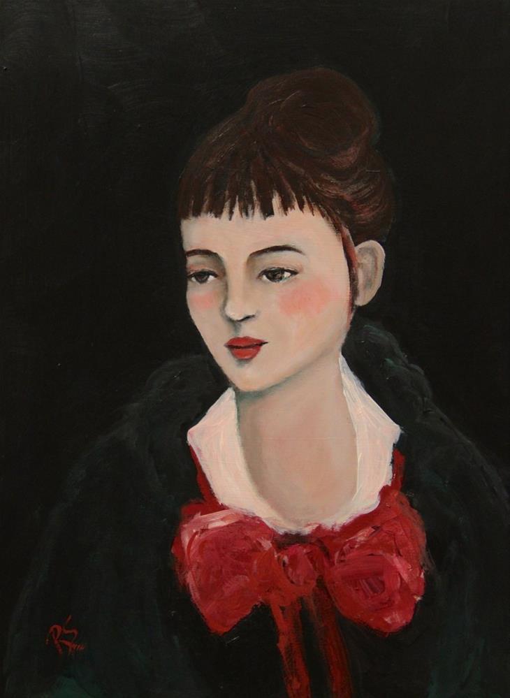 """Lady Beatrice"" original fine art by Roberta Schmidt"