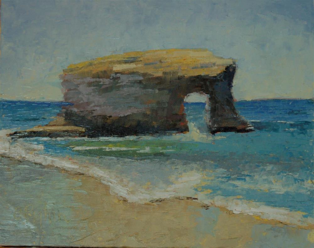 """""""Natural Bridge"""" original fine art by Carol Pighin"""