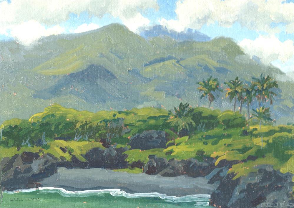 """Black sand beach"" original fine art by J. Thomas soltesz"