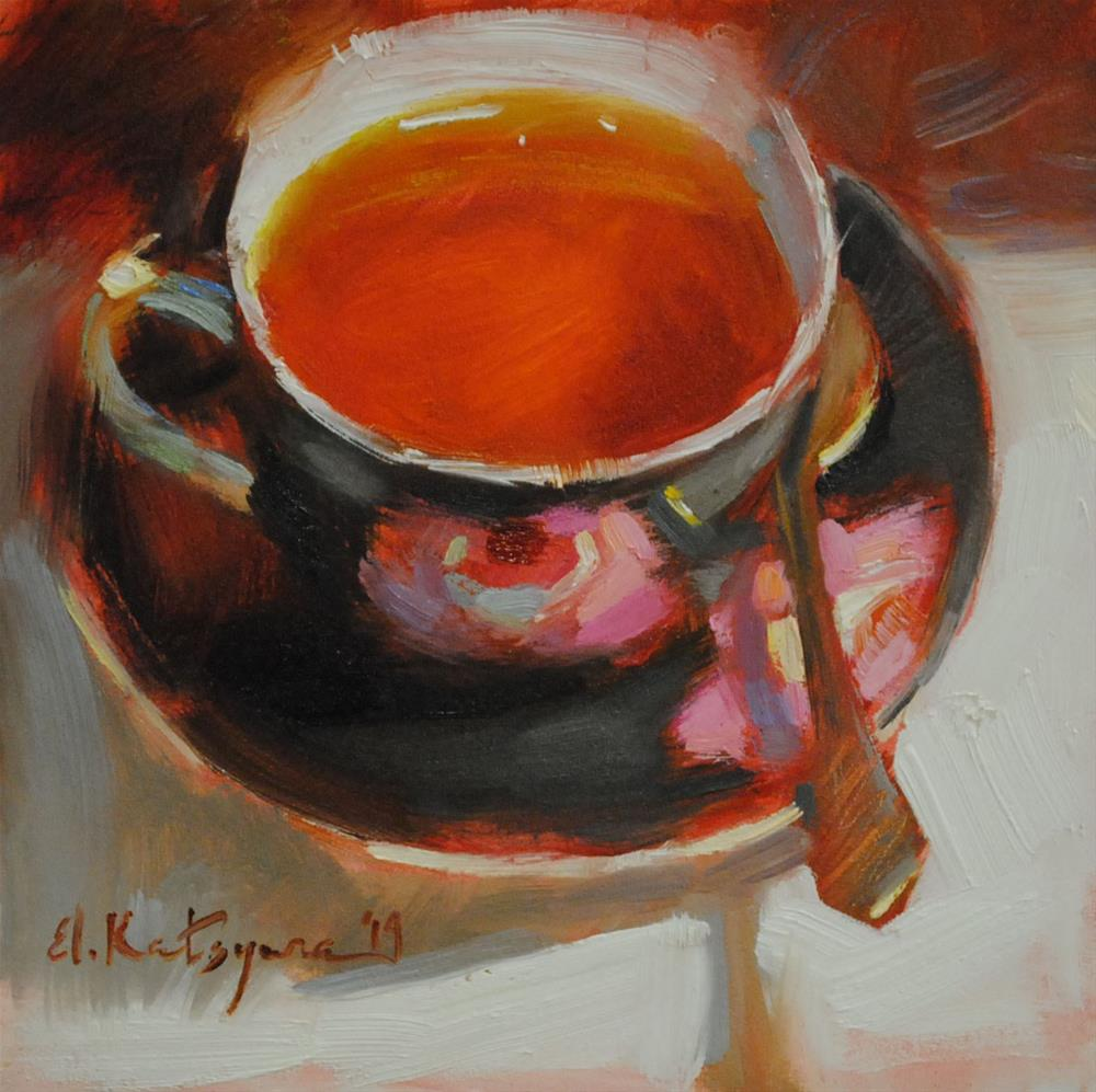 """Rosemary Tea"" original fine art by Elena Katsyura"