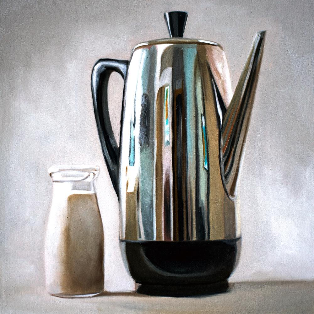"""Percolator Coffee & Cream"" original fine art by Lauren Pretorius"