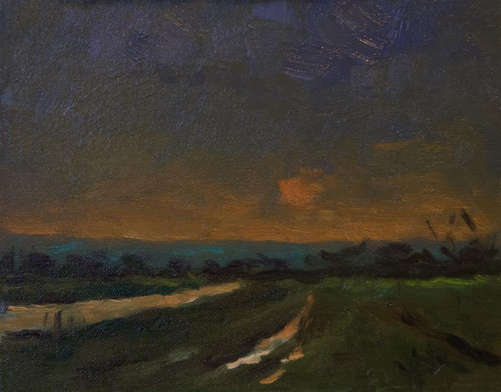 """Low Sun and Field"" original fine art by Andre Pallat"