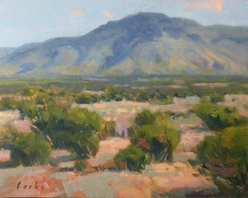 """Desert Plateau"" original fine art by David Forks"