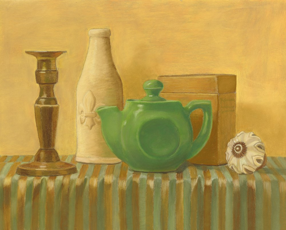 """The Green Teapot"" original fine art by Susan Fern"