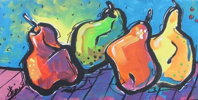 """""""Hoedown"""" original fine art by Terri Einer"""