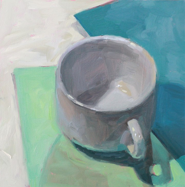 """White Cup"" original fine art by Nealy May Riley"
