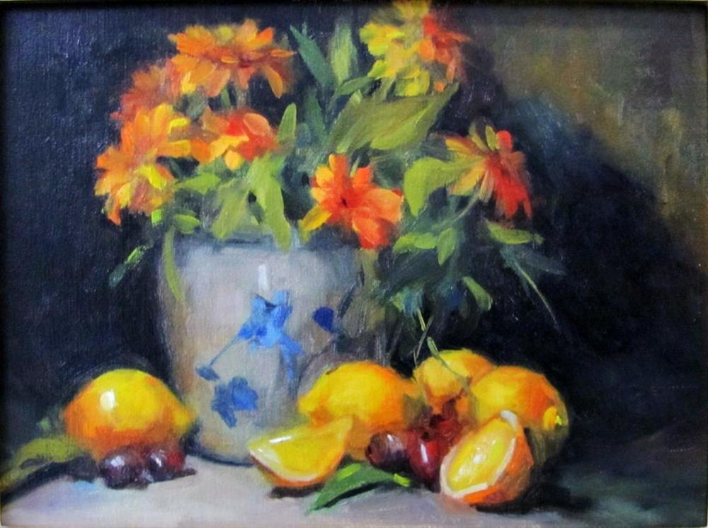 """Nancy's Lemons"" original fine art by Laurie Johnson Lepkowska"