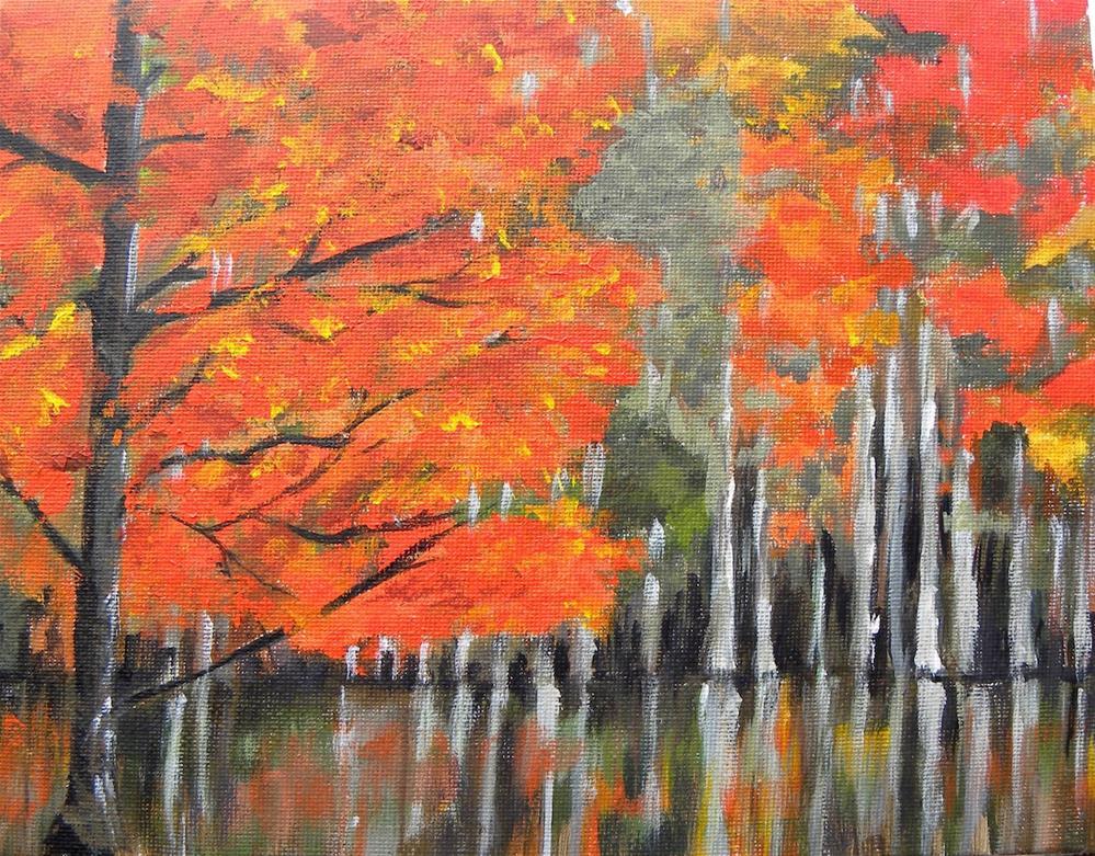 """Birch Stand"" original fine art by cheryl buhrman"