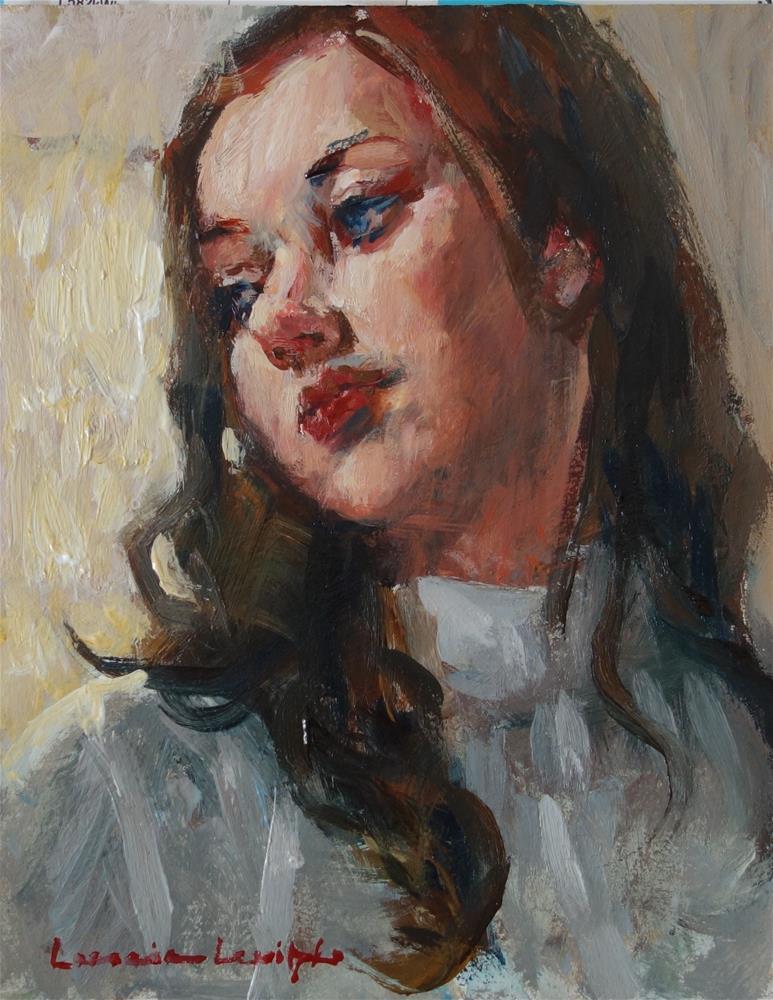 """Looking out the Window"" original fine art by Lorraine Lewitzka"
