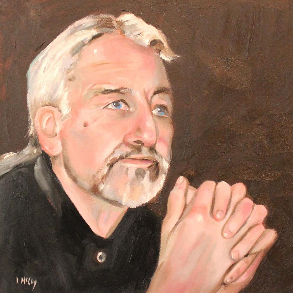 """Jim, Oil Portrait, by Linda McCoy"" original fine art by Linda McCoy"