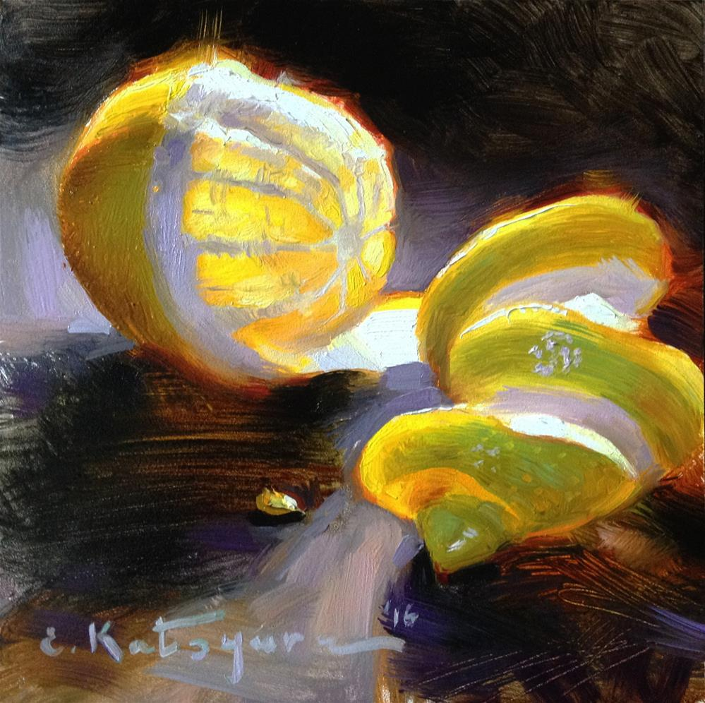 """Lemon Glow"" original fine art by Elena Katsyura"