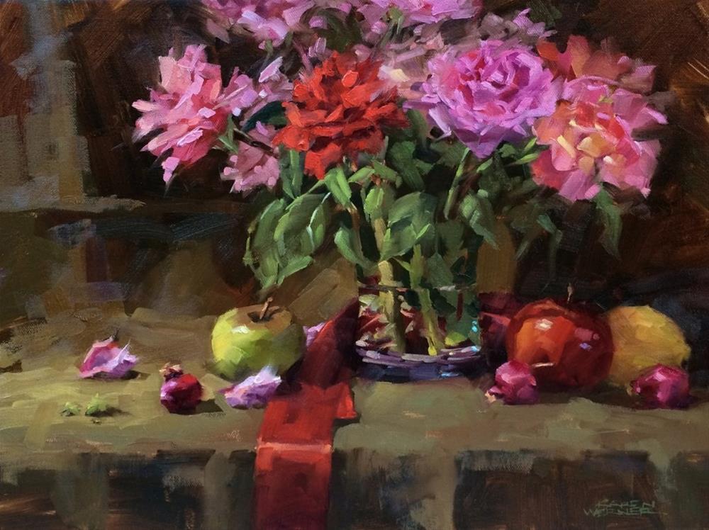 """""""Jo's Roses"""" original fine art by Karen Werner"""