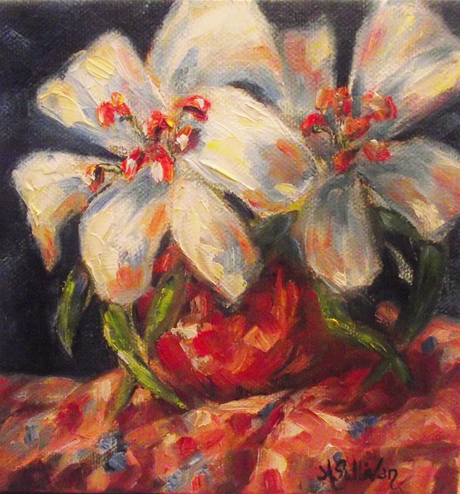 """""""White Stuff"""" original fine art by Angela Sullivan"""