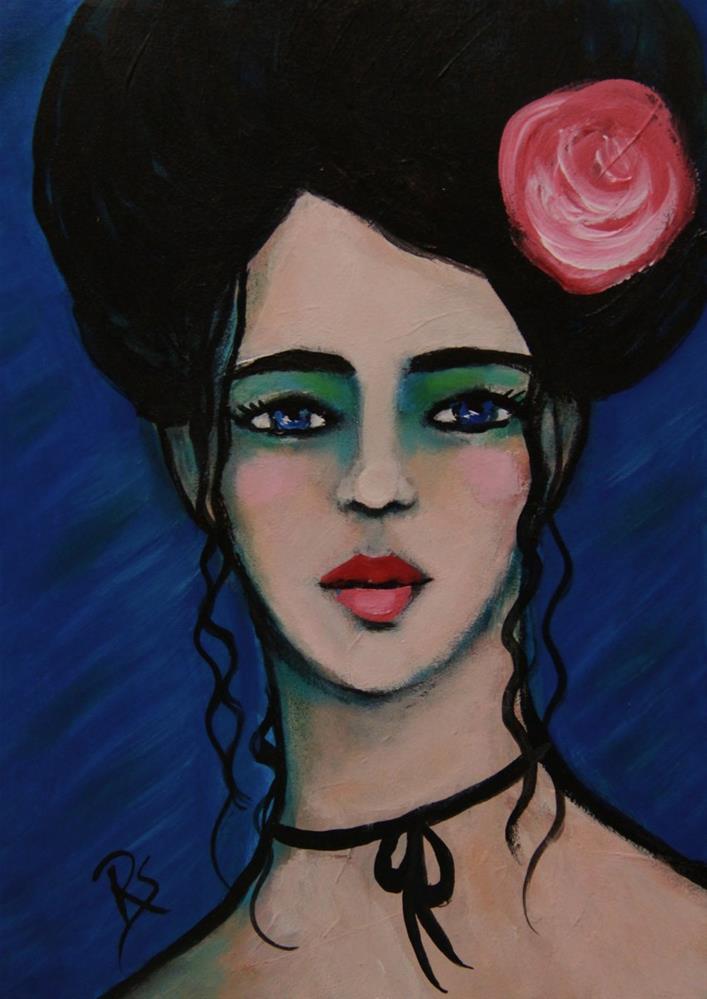 """""""Sapphire"""" original fine art by Roberta Schmidt"""