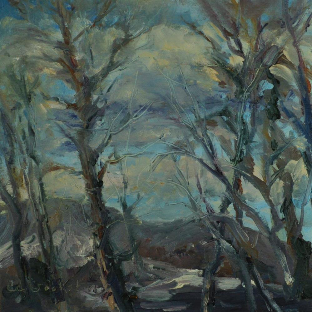"""Peeking Through the Trees"" original fine art by Catherine Crookston"