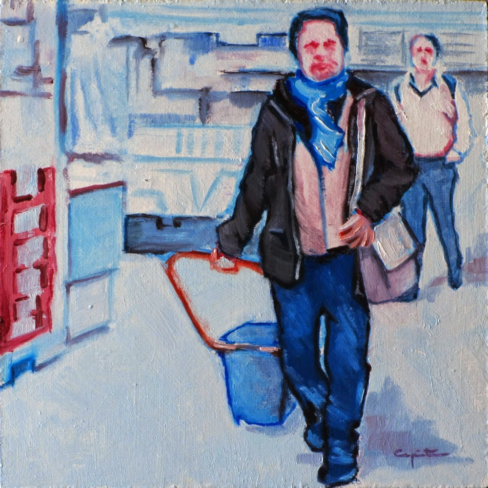 """""""La cesta diaria"""" original fine art by Eduardo Carpintero"""