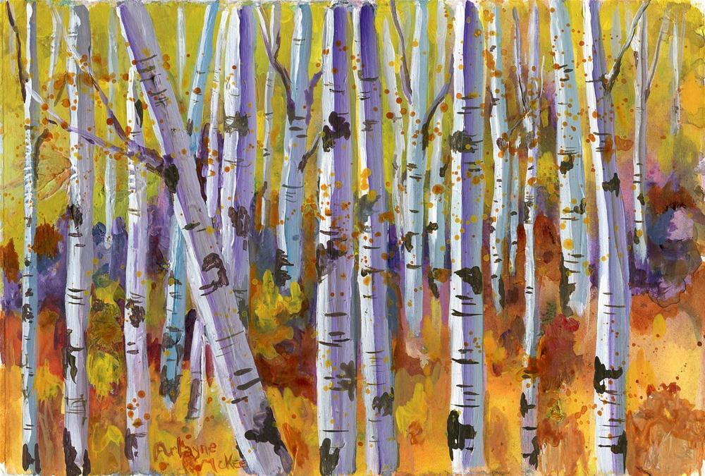 """Golden Forest"" original fine art by Arlayne McKee"