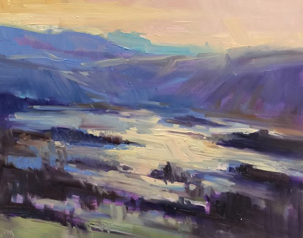 """Dreamy Pisgah Sunrise"" original fine art by Patti McNutt"