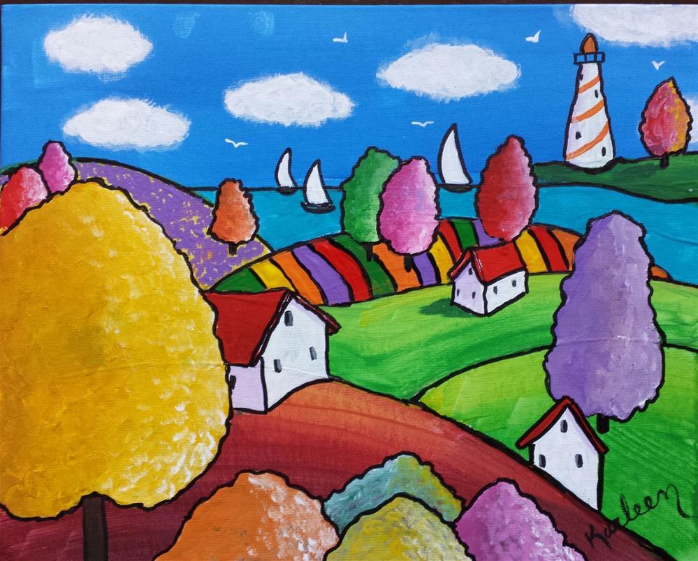 """Urban Living"" original fine art by Karleen Kareem"